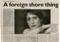 A foreign shore thing - The Age 9_10_98