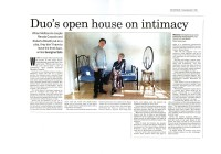 Duo opens house on intimacy - The Australian 21_09_01