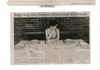Edgy trip into theatre of personal disclosure - The Australian 12_06_00