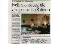 Nella stanza segreta a tu per tu con Roberta - La Stampa 06_03_09